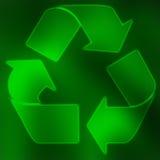 El verde recicla símbolo ilustración del vector