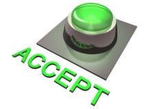 El verde valida el botón   Imágenes de archivo libres de regalías