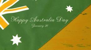 El verde y la bandera y la muestra australianas del oro mandan un SMS Fotos de archivo libres de regalías