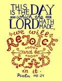 El verso de la biblia esto es el día que el señor ha hecho libre illustration