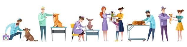 El veterinario doctor a Set ilustración del vector
