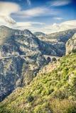 El viaducto de Eze, el puente del diablo foto de archivo libre de regalías