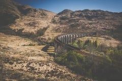 El viaducto ferroviario de Glenfinnan imágenes de archivo libres de regalías