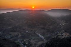 El viaducto ferroviario imagen de archivo