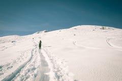 El viajar alpino, mirada retra Fotos de archivo