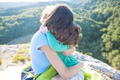 El viajar con los niños Fotografía de archivo libre de regalías