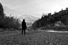 El viajar de la mujer Fotografía de archivo