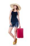 El viajar de las chicas jóvenes Imagen de archivo libre de regalías