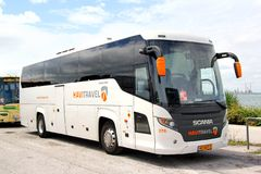 El viajar de Scania Foto de archivo