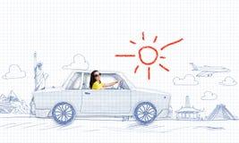 El viajar del coche Imagen de archivo libre de regalías
