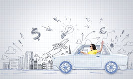 El viajar del coche Imagen de archivo