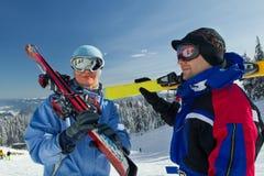 El viajar del esquí Imagen de archivo libre de regalías