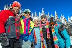 El viajar del esquí Imagenes de archivo