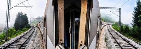 El viajar del tren Foto de archivo libre de regalías