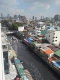 El viajar en barco en Bangkok Imagen de archivo