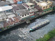 El viajar en barco en Bangkok Foto de archivo libre de regalías