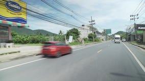 El viajar en el camino en Koh Samui en vídeo de la cantidad de la acción de Tailandia metrajes