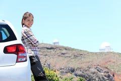 El viajar en coche en el La Palma Fotografía de archivo