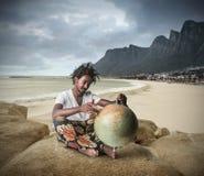 El viajar en el mundo entero Imagen de archivo libre de regalías