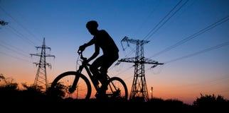 El viajar en la bicicleta Imágenes de archivo libres de regalías