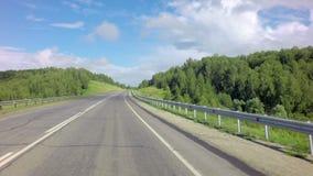El viajar en la ruta de Altai Krai almacen de metraje de vídeo