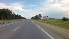 El viajar en la ruta de Altai Krai almacen de video