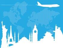 El viajar en todo el mundo Imagen de archivo