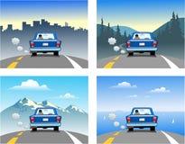 El viajar en un coche Imágenes de archivo libres de regalías