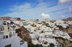 el viajar para el honeymoonvin Oia Santorini Grecia imágenes de archivo libres de regalías