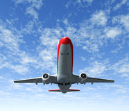 El viajar por el cielo del aeroplano Imagenes de archivo