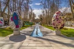 El viajar a Teherán en Norooz Eaggs de Pascua, Baq Ferdows en Irán durante la primavera 2017 Imagen de archivo libre de regalías