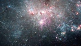 El viajar a través de una galaxia y campos de estrella en el espacio - galaxia 025 HD