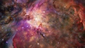 El viajar a través de una galaxia y campos de estrella en el espacio profundo - galaxia 004 HD