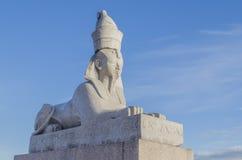 El viaje adentro hundió Peterburge a una estatua de la esfinge Foto de archivo libre de regalías