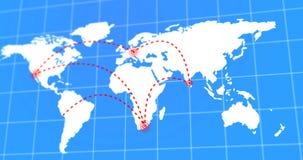 El viaje animado Infographic del viaje y de negocios en la tierra blanca del planeta traza 4k hecho video