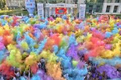 El viaje Bucarest del héroe del funcionamiento del color imágenes de archivo libres de regalías