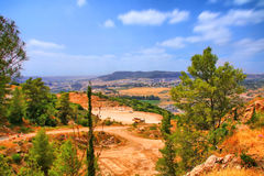 El viaje de la cueva de Soreq Avshalom en Israel Foto de archivo libre de regalías