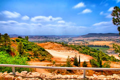 El viaje de la cueva de Soreq Avshalom en Israel Fotos de archivo libres de regalías