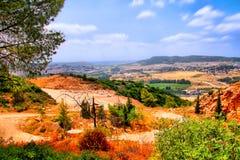 El viaje de la cueva de Soreq Avshalom en Israel-w37 Foto de archivo libre de regalías