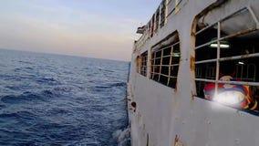 El viaje por el mar en transbordador metrajes