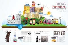 El viaje Portugal fijó objetos imagen de archivo libre de regalías