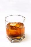 El vidrio con un whisky Imágenes de archivo libres de regalías