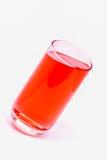 El vidrio de agua, agua de la bebida, bebe rojo Imagen de archivo libre de regalías