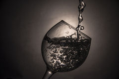 El vidrio de agua o de vino Imagen de archivo