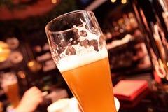 El vidrio de cerveza Fotografía de archivo libre de regalías