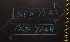 El viejo año o las flechas del Año Nuevo Imagen de archivo