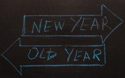 El viejo año o las flechas del Año Nuevo Foto de archivo