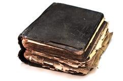 El viejo ` antiguo lamentable de la biblia del ` del libro en blanco aisló el fondo Fotos de archivo libres de regalías