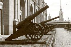 El viejo cannonry Imagen de archivo libre de regalías