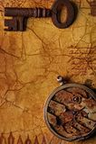 El viejo clave con engranajes. foto de archivo libre de regalías